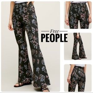 FREE PEOPLE Born To Be Wild Floral Flare Pant 0